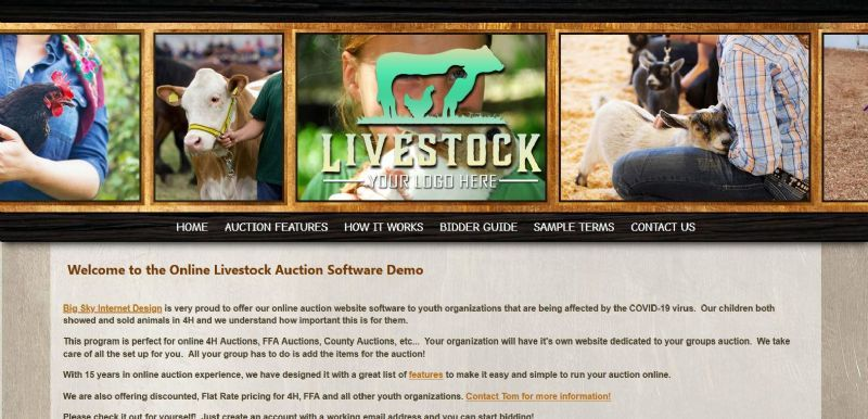 Online Livestock Auction Software